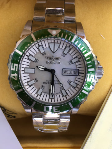 INVICTA 2844 Pro Diver Automatic Stainless Steel 42mm Watch Box Papers New Rare