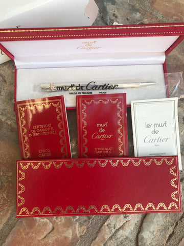 Cartier Must de Cartier Trinity Vintage Pen BRAND NEW IN ORIGINAL PACKAGING