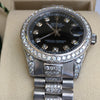 Rolex 178240 Datejust 31mm Midsize Stainless Steel Diamond Dial Lugs Gold Bezel