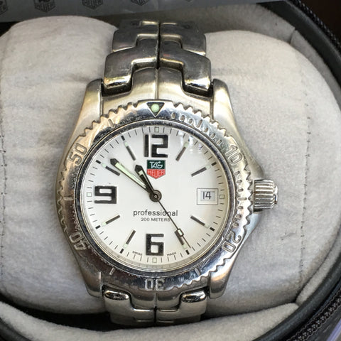 TAG Heuer Link Mens Gents Midsize Watch Stainless Steel WT1214 Box Papers