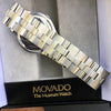 Movado Museum Watch Stainless Steel Box Booklets
