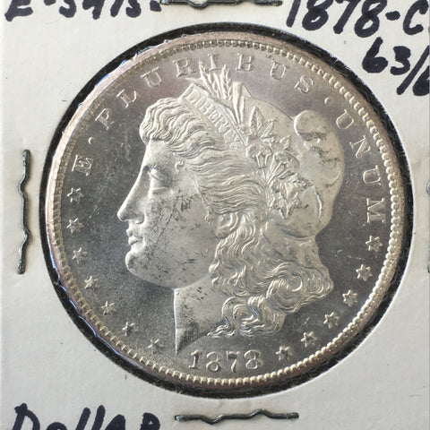 1878 CC Carson City Morgan Silver Dollar ANACS MS-63/MS-65