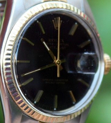 ROLEX 18k Gold and Steel Men's 36mm Datejust Watch