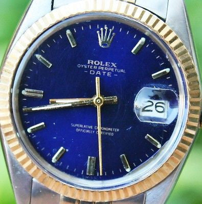 ROLEX 18k Yellow Gold & Stainless Steel Mens or Ladies 34mm Date Watch