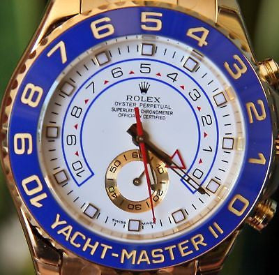 ROLEX 18k GOLD MENS 116688 YACHT-MASTER YACHTMASTER II 2 WATCH NEW UNWORN