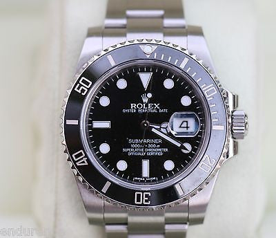 ROLEX SUBMARINER STAINLESS STEEL BLACK ON BLACK 116610
