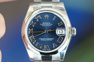 ROLEX MIDSIZE MENS OR LADIES 31mm DATEJUST STAINLESS STEEL 178240