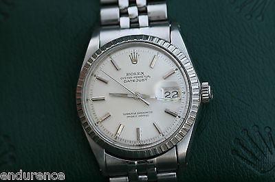ROLEX VINTAGE DATEJUST MENS WATCH STAINLESS STEEL 1601 VINTAGE BOXES CERTIFICATE