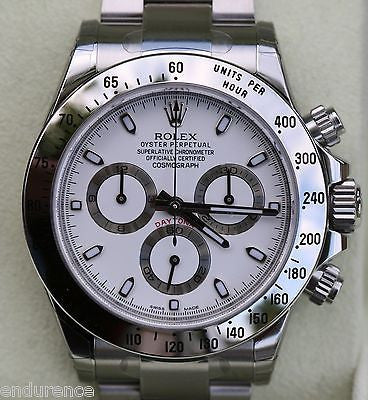 NEW ROLEX DAYTONA 116520 STAINLESS BOX PAPERS WHITE DIAL NEWEST MODEL SCRAMBLED