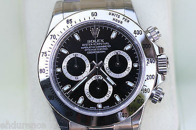 ROLEX DAYTONA 116520 STAINLESS BOX PAPERS BLACK DIAL