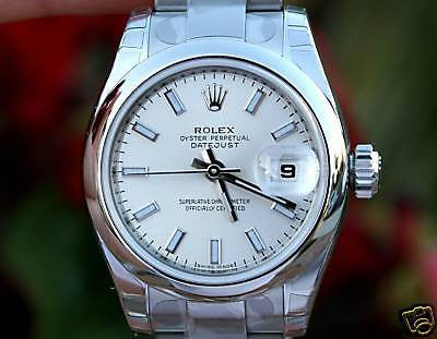 ROLEX LADIES DATEJUST 26mm STAINLESS STEEL BOX WARRANTY 179160 YEAR 2015 UNWORN