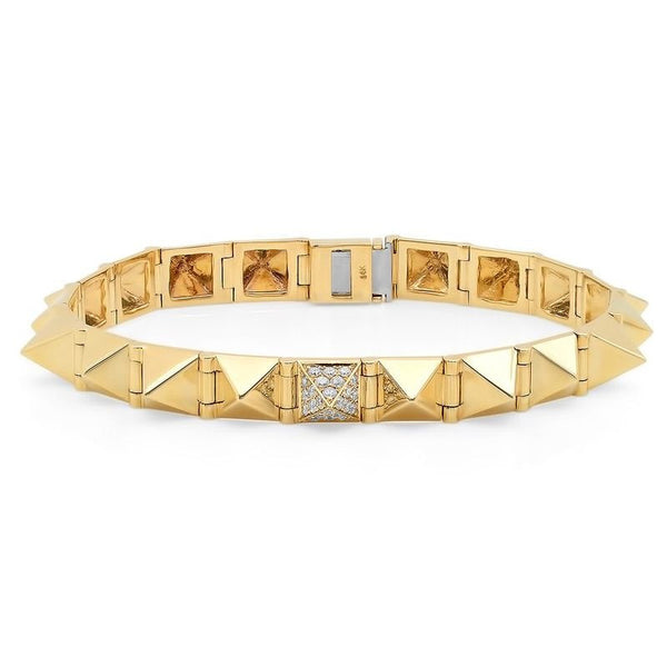 14k Gold Diamond Spike Bracelet .32cts (Compare to Anita Ko)
