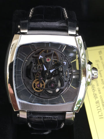 INVICTA 2700 Sapphire Ghost Skeleton Collection Steel 48mm Box Papers New Rare
