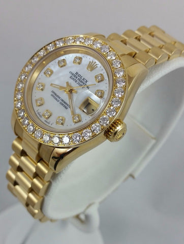 Rolex 18k Yellow Gold 26mm Datejust Presidential
