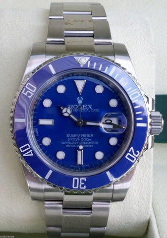 Rolex Stainless Steel Submariner 116610 Custom Blue Dial & Bezel