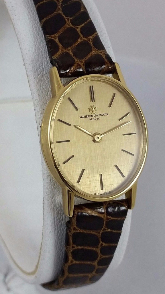 Vacheron & Constantin 18k Yellow Gold Womens Backwinder Watch Vintage