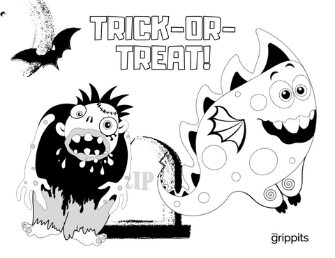 Halloween Colouring Page
