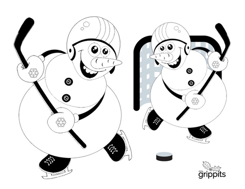 Snowman Christmas Colouring Page
