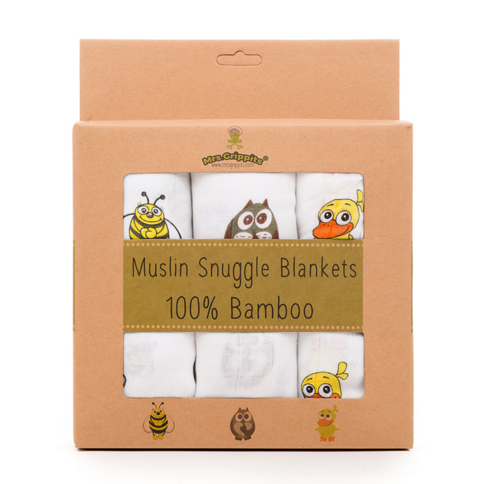 100% Bamboo Muslin Swaddle Blankets  - Gift Set