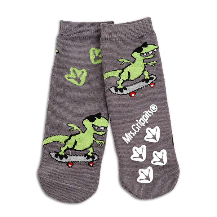 Baby/Kids Bamboo Socks with Grips - Dinosaur