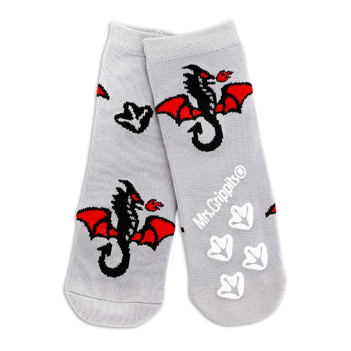 Baby/Kids Bamboo Grip Socks - Dragon
