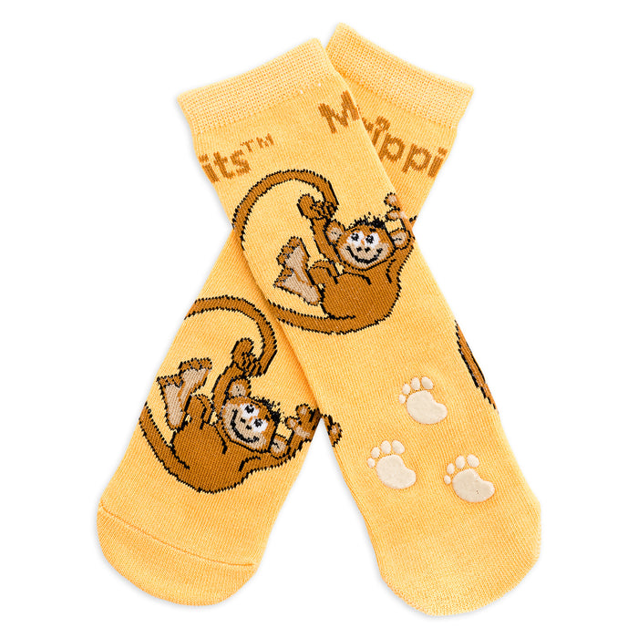 Baby/Kids Bamboo Socks with Grips - Monkey