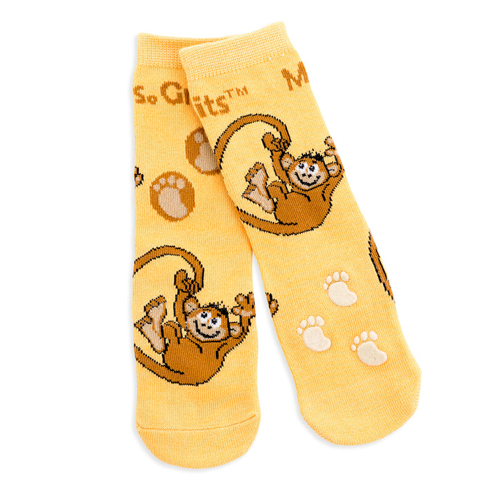 Baby/Toddler Bamboo Socks with Grips - 6-pack Dragon + Friends (1-4 years)