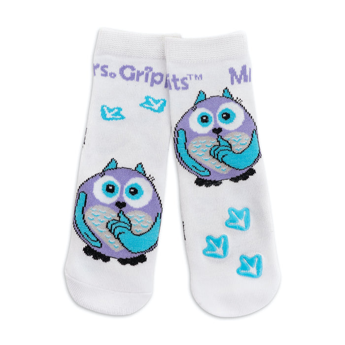 Baby/Kids Bamboo Socks With Grips - Owl