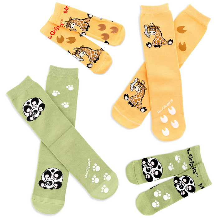 Adult/Kids Matching Grip Socks 4-pack