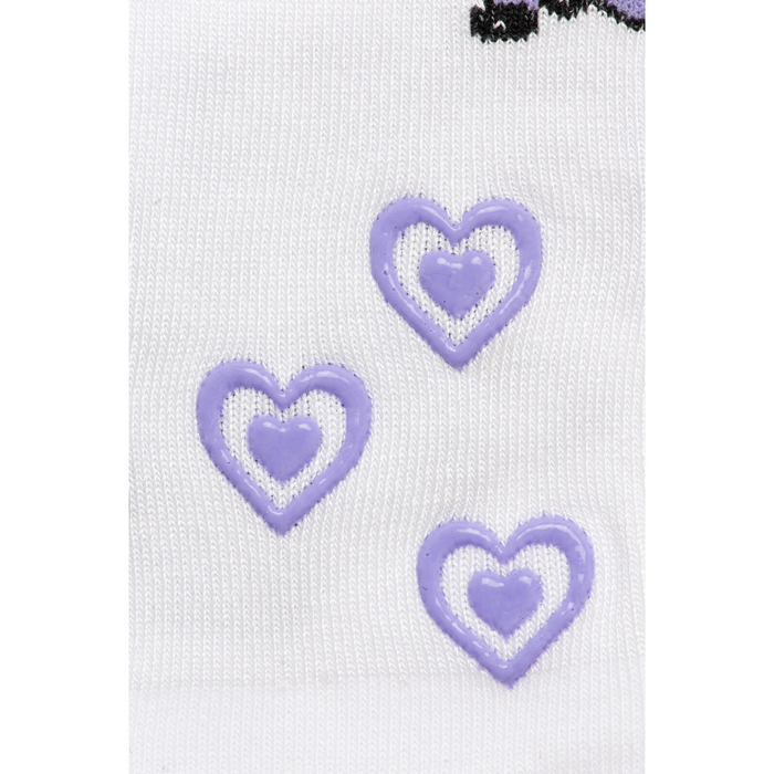Baby/Kids Bamboo Socks with Grips - Purple Unicorn