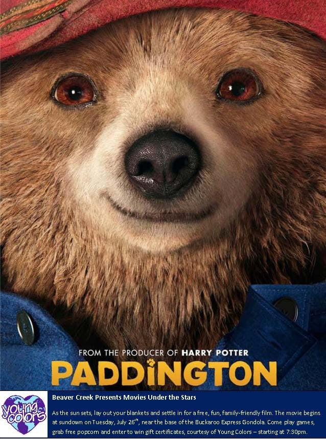 Beaver Creek Presents Movies Under the Stars - Young Colors Sponsors Paddington
