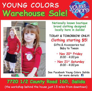 Young Colors Warehouse Sale - this weekend