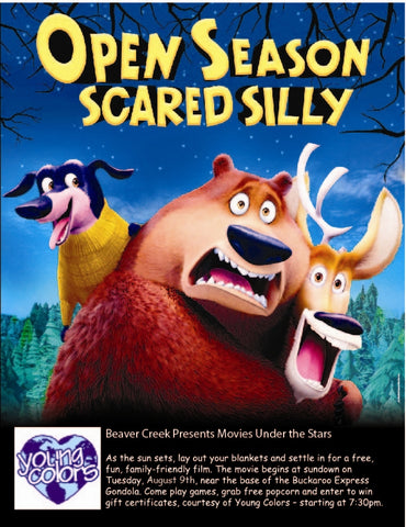 beaver creek presents movies under the stars young colors sponsors