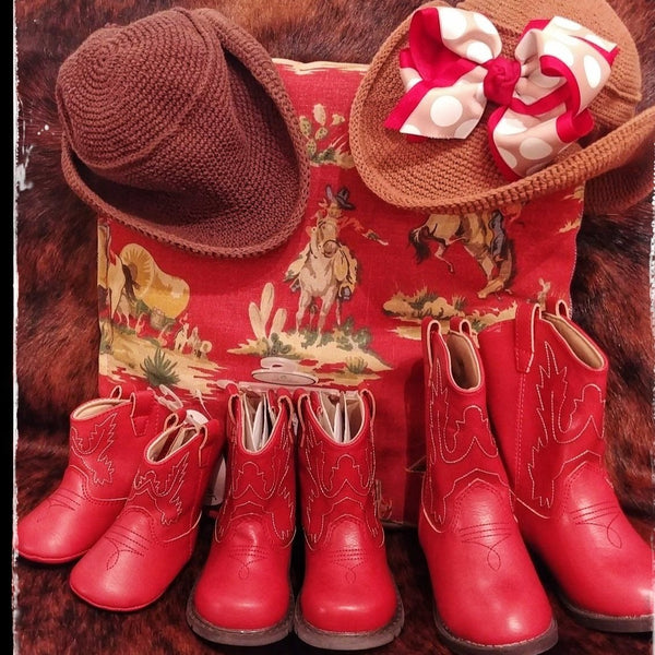 Red Western Cowboy Boot