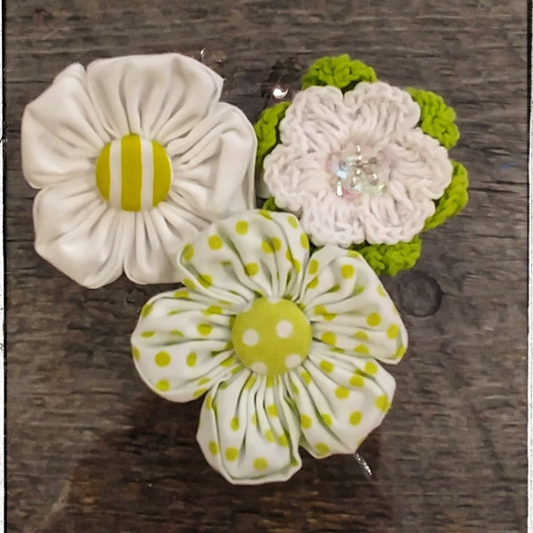 Flower Cluster Hair Clips