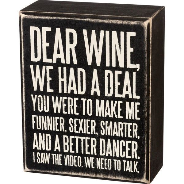 Wine & Beverage Block Signs
