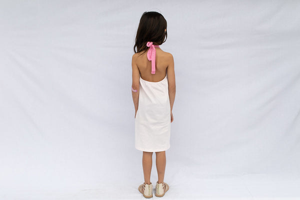 Flamingo Pink Halter Dress