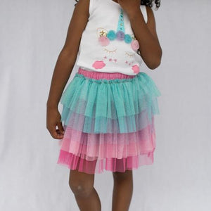 Unicorn 2 pc Tank & Skirt Set