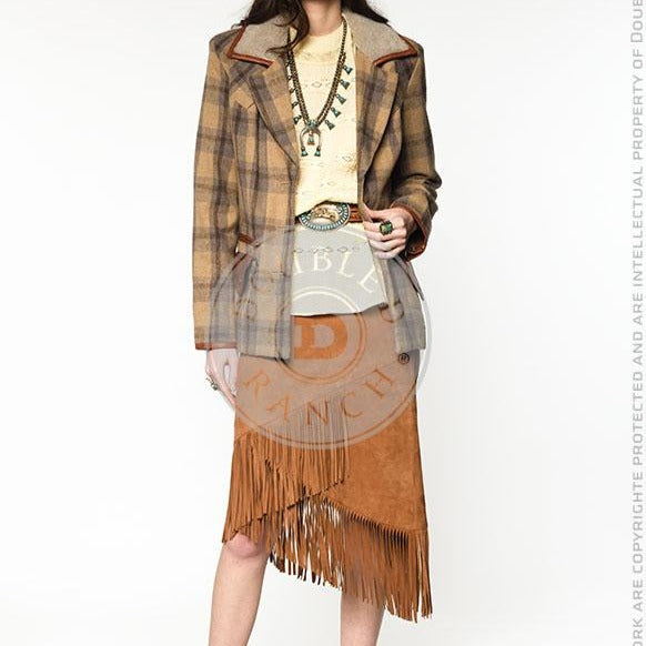 Shield & Drum Skirt - Moccasin Suede
