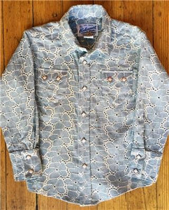 Kids Baby Blue Eyelet Western Snap Shirt
