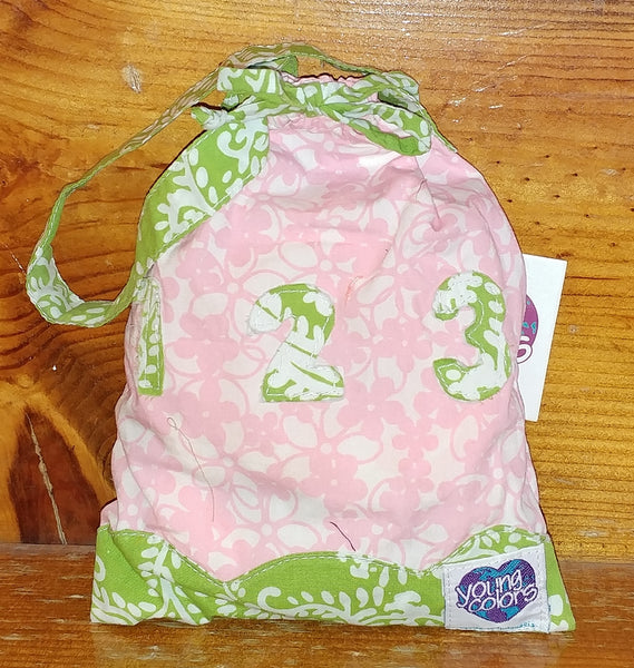 Fabric Numbers Bag with custom YC fabrics