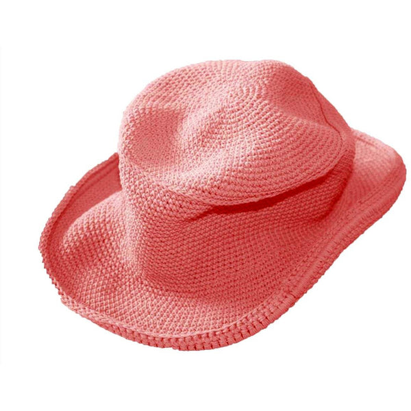 Cowboy Hat - Hand Crocheted - Rose Salmon