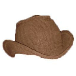 Western Cowboy Hat - Hand Crocheted - Milk Chocolate