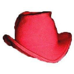 Western Cowboy Hat - Hand Crocheted - Red