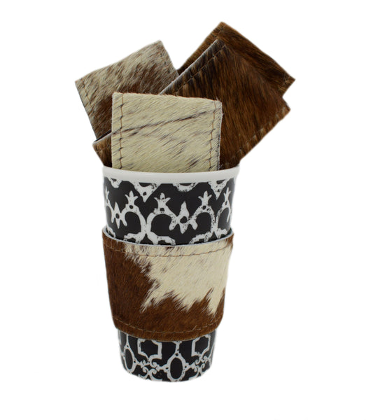 Cowhide Beverage Holders