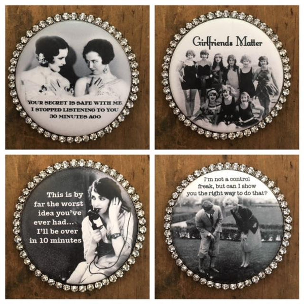 A Few of My Favorite Things - Magnets round w/bling