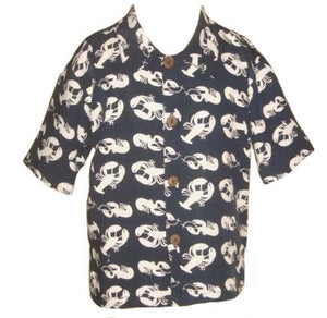 Camp Shirt - SS Lobsters Boys - Navy