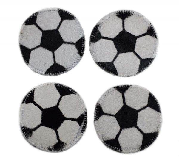 Cowhide Sports Balls Coasters