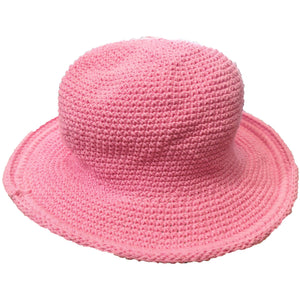 Original Brim Hat - Hand Crocheted - Cotton Candy