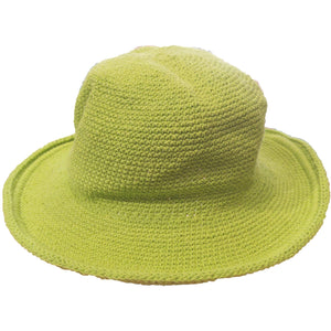 Original Brim Hat - Hand Crocheted - Green Apple